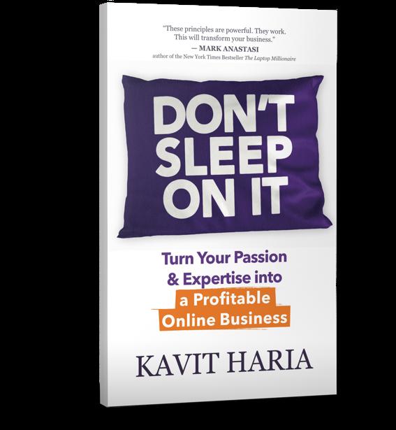 kavit haria dont sleep on it book
